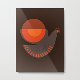Mid-century Illustrated Bird No. 7 Metal Print