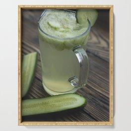 Homemade cucumber lemonade Serving Tray