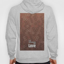 Tasty brown coffee chocolate background with circles Hoody