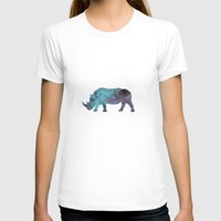 rhino T-shirts featuring Rhino by Dnzsea