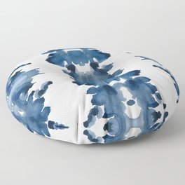 Blue Ink Blots Floor Pillow