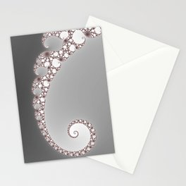 Simple Spiral Grey - Fractal Art  Stationery Cards