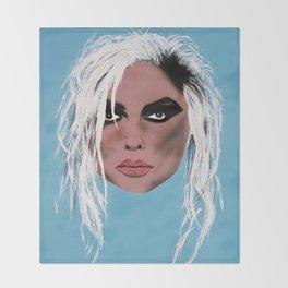 Lady of the eighties - Painting Throw Blanket