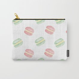 Pistachio and Rose Macarons Carry-All Pouch