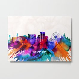 Anaheim Skyline Metal Print