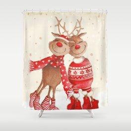 Dancing Elks Shower Curtain
