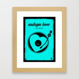 analogue lover Framed Art Print
