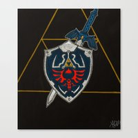 shield Canvas Prints featuring Shield  by Jennifer Dillon