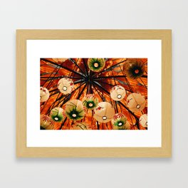 Japanese Paper Lanterns Framed Art Print