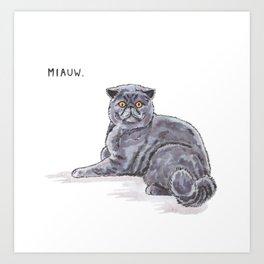 Meow/Miauw Art Print