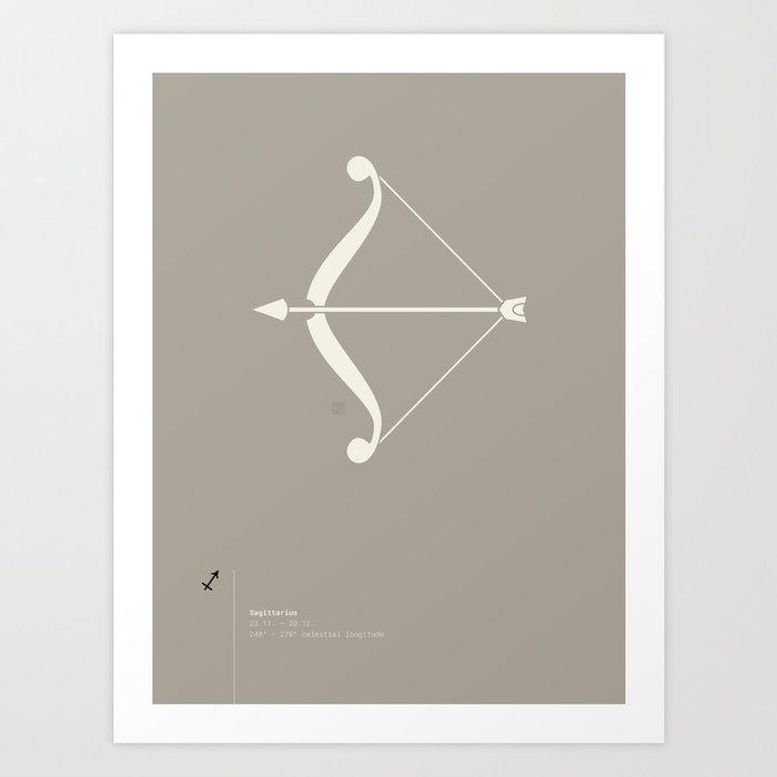 Sagittarius Star Sign Art Print