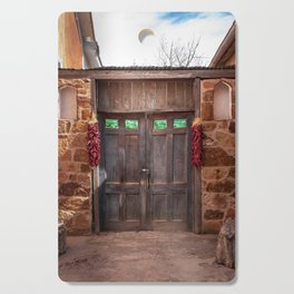 Doorway and Ristras in Lincoln, NM. Cutting Board
