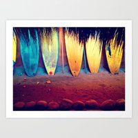surf Art Prints featuring surf by Laura Ferro