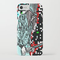 heavy metal iPhone & iPod Cases featuring Abstract Heavy Metal Rocks by Saundra Myles