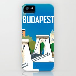 Budapest, Hungary - Skyline Illustration by Loose Petals iPhone Case