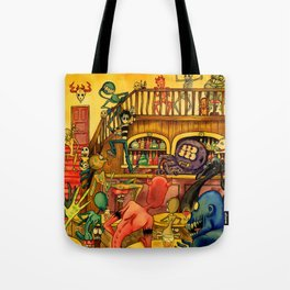 A Town Called Morteville Tote Bag
