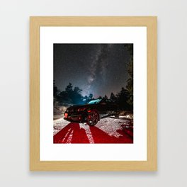 'Milky Way Over Car' Framed Art Print