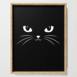 Cute Black Cat Serving Tray