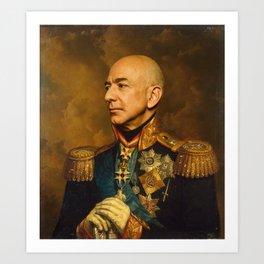 Jeff Bezos Classical Regal General Painting Art Print