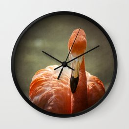 Flamingo Glow Wall Clock