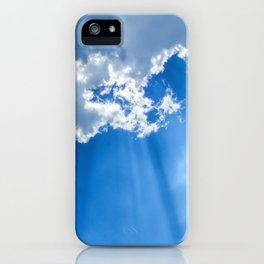 Silver lining cloud iPhone Case
