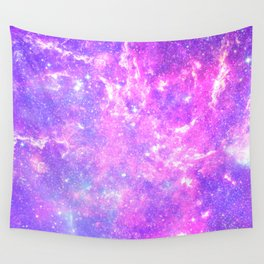 Pink Galaxy Wall Tapestry