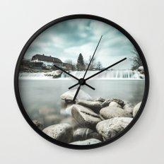 Waterfall on Sora river, Medvode Wall Clock