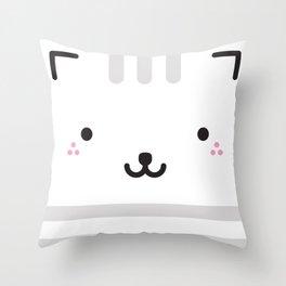 kitty squared Throw Pillow
