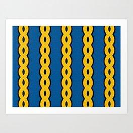 Gold Chain Curtain Art Print
