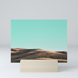 In The Distance - Turquoise Nature Photography Mini Art Print