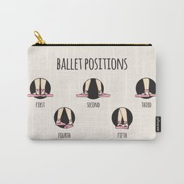 Ballet Positions Cream Carry-All Pouch