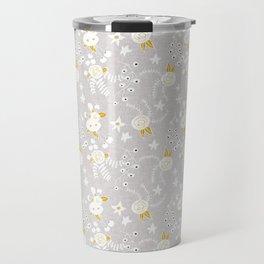 Holiday Floral Grey  #holiday #Christmas Travel Mug