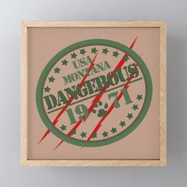 Dangerous Framed Mini Art Print