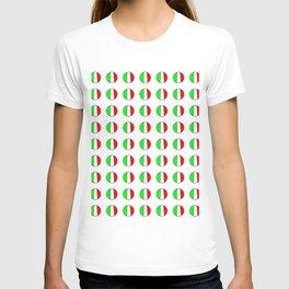 Flag of Italy in a polka dot - Italy,Italia,Italian,Latine,Roma,venezia,venice,mediterreanean,Genoa, T-shirt