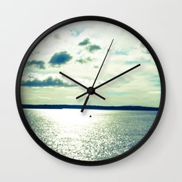Sweep of the Horizon Wall Clock