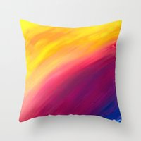 skyfall Throw Pillows featuring Skyfall by Sierra Christy Art