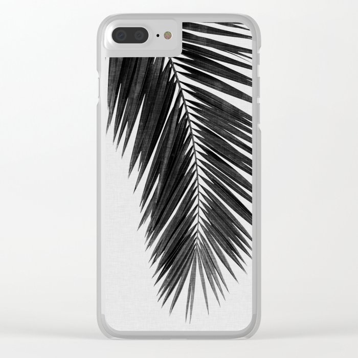 Palm Leaf Black & White I Clear iPhone Case