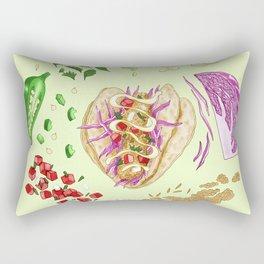 Fish Taco Diagram Rectangular Pillow