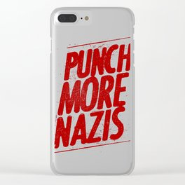 Punch more nazis Clear iPhone Case