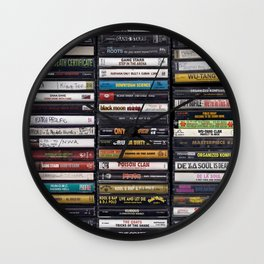 Old 80's & 90's Hip Hop Tapes Wall Clock
