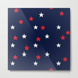 Summertime Stars in Red, White, and Blue Metal Print