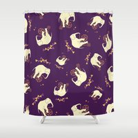 cycling Shower Curtains featuring Cycling Elephants by Swanky Swaz Designs