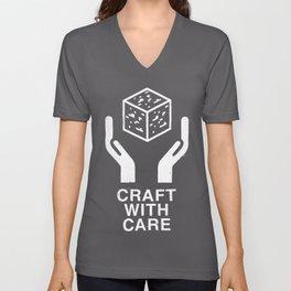 Craft With Care (Black) Unisex V-Neck