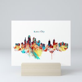 Kansas City Skyline Silhouette Mini Art Print