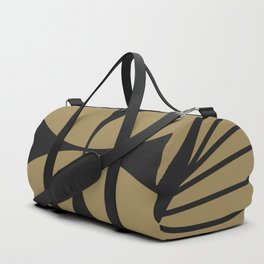 Diamond Series Floral Cross Charcoal on Gold Duffle Bag