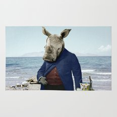 Mr. Rhino's Day at the Beach Rug
