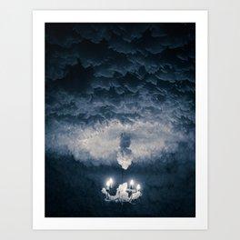 Ice Chandelier Art Print