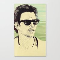 james franco Canvas Prints featuring James Franco by beecharly