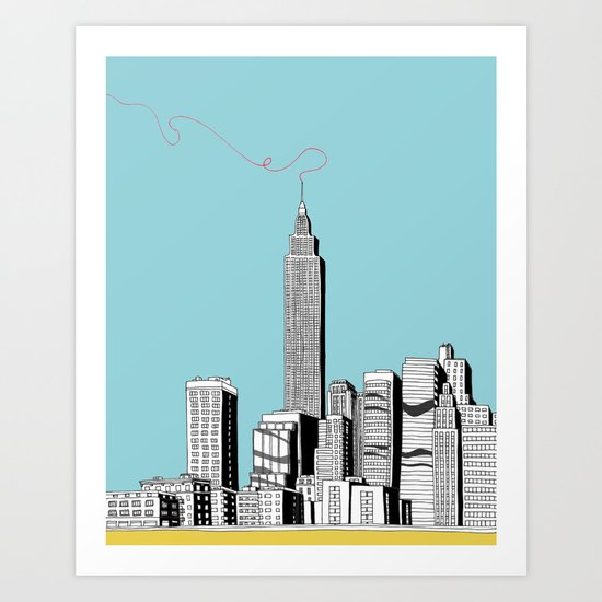 A Scribble in the Sky Art Print
