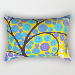 Aqua Tree of Life Rectangular Pillow